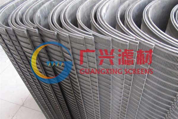 Sieve bend screen for tapioca proessing