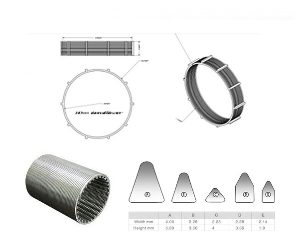 wedge wire filter cartridge